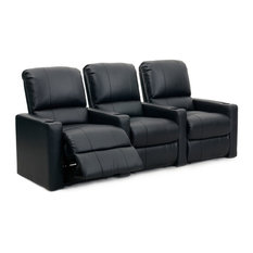 Charger XS300 Row of 2 Straight, Manual Recline, Black Bonded Leather