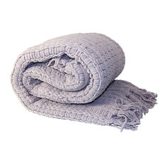 Space Yarn Knitted Throw, Lilac