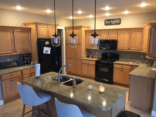 Light White Countertops With Natural Maple Cabinets Picture Request