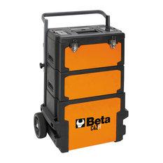 Beta Tools Rolling Tool Box With Oversized Castors, Orange