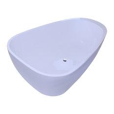 "67"" Bathroom White Color FreeStanding Acrylic Bathtub"