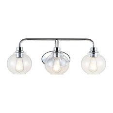 Sandrine Iron LED Vanity Light , Chrome, 3 Bulb