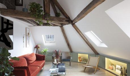 Avant/Après : Un jeune couple s'installe sous les toits de Paris