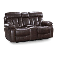 Peoria Loveseat, Manual Console, Toffee