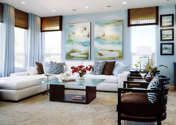 Contemporary Family Room by Robeson Design