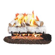"""Standard White Birch Gas Logs, 30"""" Logs Only"""