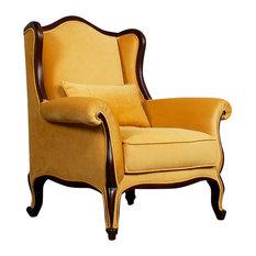Leberta London   Pavia Armchair, Yellow   Armchairs U0026 Accent Chairs