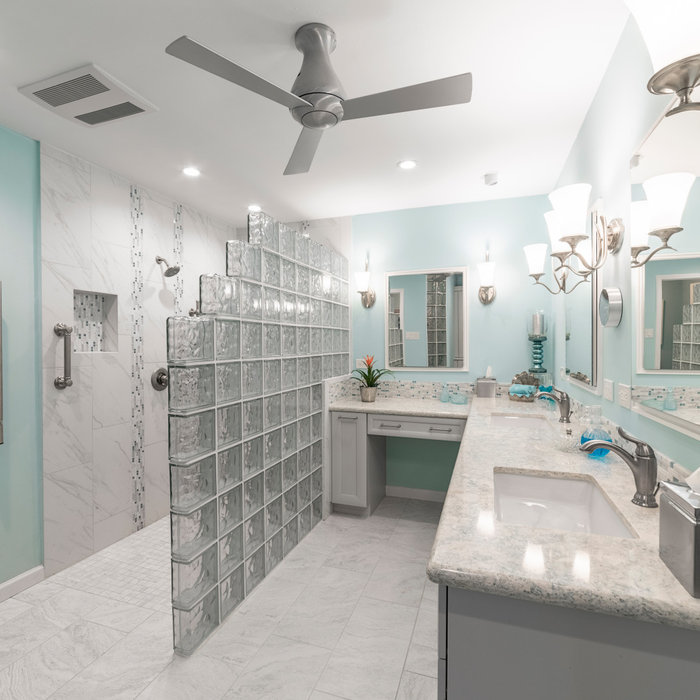 Beachy Master Bath