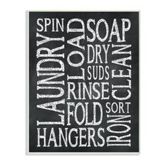 Stupell Industries Laundry Words Typography Chalk Look, 10 x 15