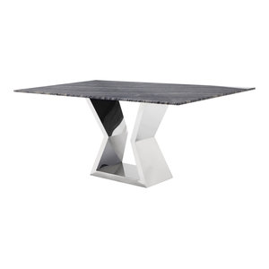 Grigio Modern Dining Table With Marble Top