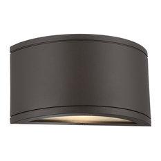 WAC Lighting Tube LED Outdoor Half Cylinder Wall Light, Bronze