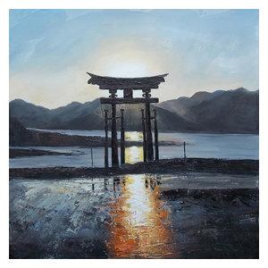 """""""Miyajima"""" Acrylic Painting, 100x100 cm"""