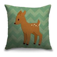 """Deer - Woodland Creatures"" Pillow 20""x20"""