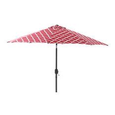 Kobette 9' Patio Market Umbrella, Red