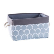 Fabric Portable Storage Basket Kitchen Snack Toy Debris Storage Box, Gray Petals