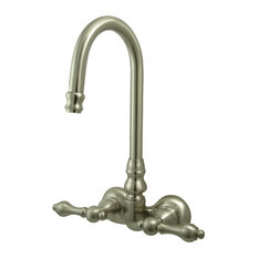 """Vintage 6"""" Deck Mount Risers for Clawfoot Tub Faucet, Polished Chrome"""