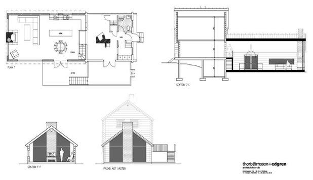 Rustikt Plantegn by T+E Arkitekter