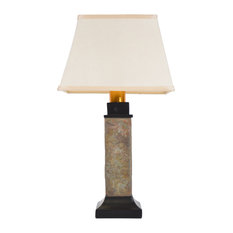 Torch Light Wireless All-Weather Table Lamp Natural Slate