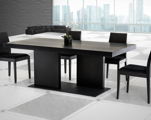 modrest cobalt modern black oak dining table dining tables b131t modern noble lacquer dining table