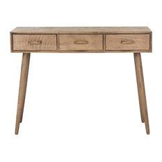 Safavieh Albus 3-Drawer Console Table, Desert Brown