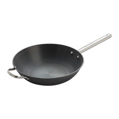 "13"" Cast Iron Chinese Wok"