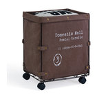 Collapsible Canvas Laundry Hamper With Wheels