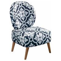 Sauder Eden Rue Maya Accent Chair, Indigo Arabesque Fabric