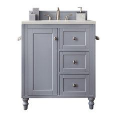 """James Martin Copper Cove Encore Silver Gray 30"""" Vanity, Without Top"""