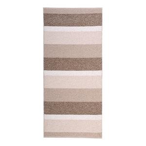 Block Woven Vinyl Floor Cloth, Beige, 70x200 cm
