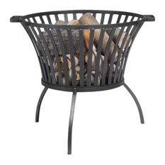 Cook King 111451 Ibiza Black Steel Garden Firebasket