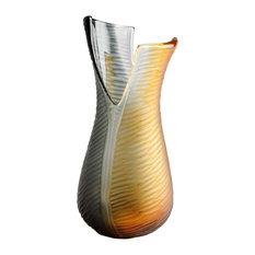 Cyan Small Candice Vase, Amber and Smoked
