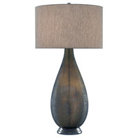 "Serres 39"" Vase Table Lamp, Textured Gray/Nickel"