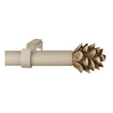 urbanest urbanest 34inch pinecone adjustable curtain rod cottage 84