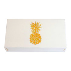 "The Joy of Light Designer Matches Gold Pineapple White  4"" Collectable Matchbox"