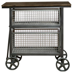 Industrial Kitchen Islands And Kitchen Carts by BisonOffice