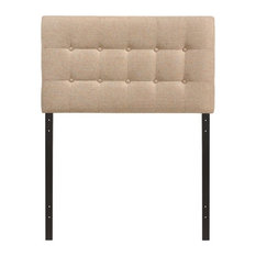 Emily Twin Fabric Headboard Beige