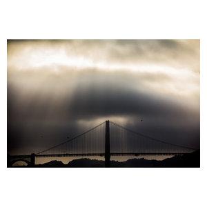 "Pixtury ""Cross the Bridge"" Photograph, Canvas Print, 40x60 cm"