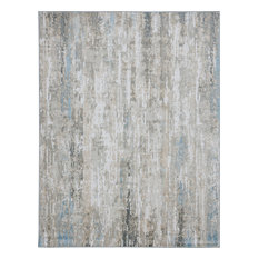 Aimee Contemporary Abstract Light Blue Rectangle Area Rug, 8' x 10'