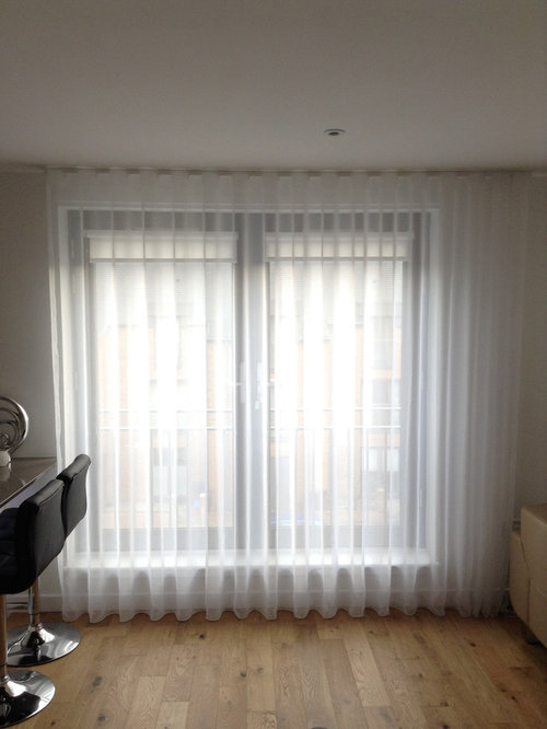 Silent Gliss 3840 tracks and Sheers made up with 80mm Wave - Curtains