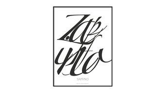 """DybergLarsen """"Zapfino"""" Poster"""