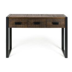 Hudson Industrial Console Table With Storage