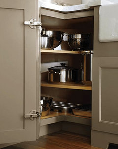 KItchenAid Mixer Storage in Corner Base Cabinet