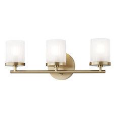 Ryan 3 Light Bathroom Vanity Light in Aged Brass