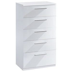 Warde Chest of 5 Drawers, White