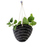 Half Light Honey - Dash Handmade Hanging Planter - - A stunning compliment to any modern space, Half Light Honey hanging ceramic planters are the perfect vessel for all kinds of plants. Plant your favorite herbs in the kitchen window, trailing ivy for a dramatic effect, groupings of unique succulents, funky cacti, colorful flowers, air plants, etc. Intended for both indoor/outdoor use. . . anywhere you need some vertical greenery!
