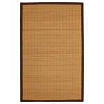 """Anji Mountain Rug Co - Bamboo Rug-Pearl River-Rectangular, 4'x6' - Perfect for the kitchen, bathroom, entryway or hall, the """"Pearl River"""" Bamboo Rug is durable and easily cleaned. The natural materials bring an earthly vibe to your home's decor. The neutral color easily complements a vast array of other colors and decor styles."""