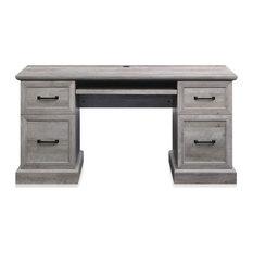 "BELLEZE Rhudi 62"" Executive Desk, Gray Wash"