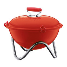Fyrkat Picnic Charcoal Grill, Red