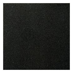 "Granite Absolute Black 12""x12"" Granite Floor Tile, Set of 1"