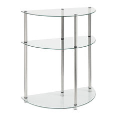 convenience concepts 3tier glass table side tables and end tables